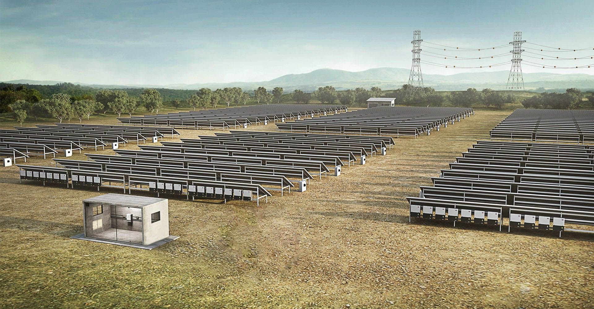 Pv Power Plants Sma Solar Plant General Layout Safe String Collection With The Combiner Boxes All Strings In Field Are Collected Safely