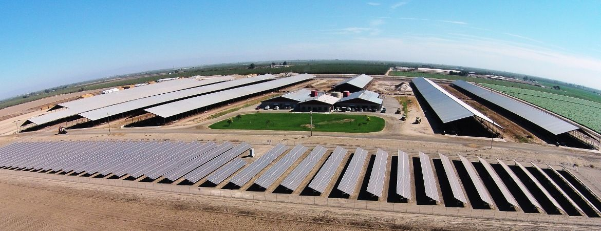 Commercial PV power plant - Red Top Jersey's Dairy, California, USA