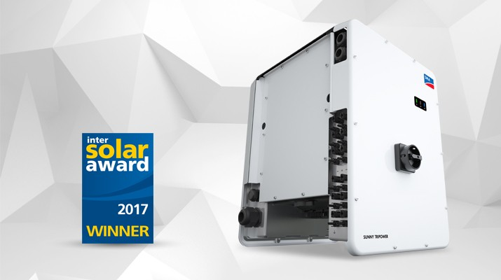 SMA Receives Intersolar Award for the Sunny Tripower CORE1